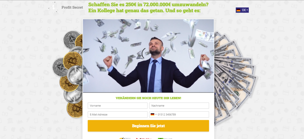 web page- German