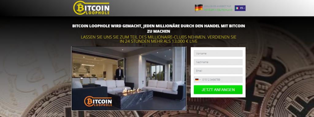 Bitcoin Loophole Erfahrungen Germany- Trading Platform